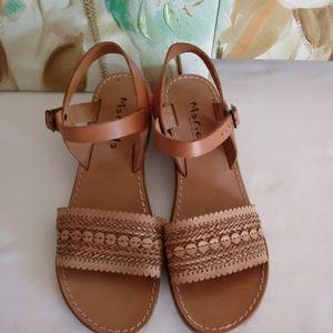 Marielle Leather Tan Sandals